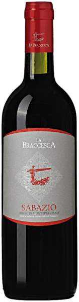 The Sabazio Rosso di Montepulciano DOC by La Braccesca is intensely ruby red with violet tendencies. Fresh fruity and floral notes surprise the nose, especially violets and red currants. On the palate, the red sabazio from Montepulciano impresses with its fine, elegant and aromatic taste, its lively freshness, its fruity notes and round, sweet tannins, which leave a harmonious and lasting impression. The finale is long and appealing. Vinification of the Sabazio Rosso di Montepulciano DOC of La Braccesca The name of the wine is reminiscent of a monk of the Abbey of Omntepulciano, commonly called Sabazio, who was the first in the Middle Ages to give hints about viticulture in the region. The typical freshness of the indigenous Sangiovese grape variety combines in this wine with the inviting fruitiness of Merlot, together they are a symbol of the ancient wine-growing region of Montepulciano. The harvest of Sangiovese and Merlot grapes takes place in succession at the end of September, beginning of October, depending on the maturity. In the wine cellar, the grapes are destemmed and gently pressed, the must is then filled into stainless steel tanks in which the temperature-controlled fermentation takes place. This way, the aromatic properties of the grape varieties are best preserved. After separation from the pomace, the wine comes in stainless steel tanks for malolactic fermentation and subsequent ageing over four months. In the spring of the following year, it is bottled and sold. Food pairings for the Sabazio Rosso di Montepulciano DOC of La Braccesca This wonderful young red wine from southern Tuscany is a perfect companion for every day, with pasta, pizza, barbecues, light and red meat, medium-ripe cheeses.