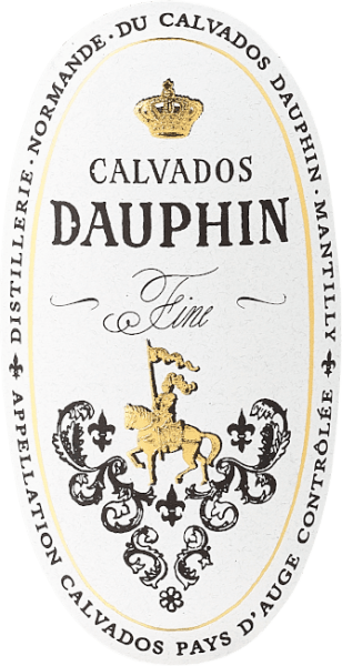 """The Calvados Fine by Calvados Dauphin from the Pays d 'Auge shines golden yellow in the glass and smells intensely of fresh, fruity apples with spicy notes in the background, which arise from the barrel storage. This French classic delights with itsfruity, yet fresh taste, a delight for connoisseurs of this fine drop. Production of Calvados Fine Pays d 'Auge by Calvados Dauphin Calvados Fine by Calvados Dauphin is a young cider spirit from Normandy, from the Pays d 'Auge, which is considered the area for the finest Calvados. Only if it comes from this region can it bear the coveted name """"Calvados Pays d 'Auge Controlée"""".Only very specific apple varieties are permitted for Calvados. These are mixed in a ratio of about 40% sweet apples, 40% bitter apples and 20% sour apples and an apple must is obtained therefrom. After double distillation of the apple must in small copper bubbles, the cider brandy is aged for two to four years at a constant cellar temperature in oak and chestnut wooden barrels. Calvados Fine Pays d 'Auge recommendations by Calvados Dauphin Enjoy this classic French cider brandy as an aperitif, at the end of a meal or with fine fruit desserts and apple pie, or as a refined ingredient with cocktails and long drinks."""