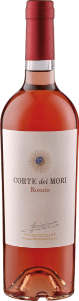The Terre Siciliane Rosato IGT by Corte dei Mori presents itself in a coral pink glass and enchants with its fresh and clear bouquet, which offers the berry aromas of raspberries and strawberries. This Rosato made from Nero d 'Avola grapes is an elegant, accessible and round Sicilian rosé wine. Food recommendation for the Terre Siciliane Rosato IGT from Corte dei Mori Enjoy this dry rosé wine with fish and shellfish, poultry and light meat or with delicate dishes of pork, veal and beef.