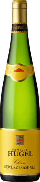 The Gewürztraminer Classic AOC Alsace by Hugel & Fils is characterized by a lively, youthful light green color in the glass. The bouquet unfolds aromatically elegant, intense, full of fragrance and harmony, as expected from Gewurztraminer. Fresh, with wonderful tropical and flowery fragrances after pineapple, mango, maracuja, white peach, ginger, rose, jasmine, lily. On the palate dry and exciting aromatic, juicy, lively fresh, supple and full of velvety. At the end, this white varietal white wine from Alsace is rich in fruit, lightness and very tasteful. A wine that makes you want more. Vinification of Gewürztraminer Classic by Hugel & Fils This dry white wine from 100% Gewurztraminer is a real specialty from Alsace, here this vine reaches the height of its expressive power. After harvesting, which is carried out exclusively by hand, the grapes are gently pressed. After static preliminary clarification of approximately 12 hours, the must is placed in wooden drums or tanks, where the temperature-controlled fermentation takes place. After bottling in spring, the wine still matures in the cellar for a while before it is put into sale. Food pairing for the Gewürztraminer Classic by Hugel & Fils We recommend this white wine as an aperitif and to amuses-gueules, tapas, paella, lobster gratin or Kaisergranathummer, marinated and grilled fish, sushi, tempura, oven-roasted wild game, Indonesian, Indian or Mexican cuisine and Munster cheese.