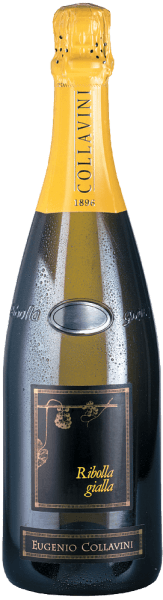 """The Ribolla Gialla Brut Millesimatofrom Collavini is the first spumante made from 100% Ribolla Gialla grapes. Only after a very long maturation period does this award-winning spumante develop its characteristic elegant and gentle character.It is vinified in small oak barrels for 6 months and in a steel tank for a further 28 months. He then rests in the bottle for 8 months to develop into this fine specialty. Food Pairing/Food recommendation for the Ribolla Gialla Brut Millesimato Vino Spumante by Eugenio Collavini It is a classic aperitif that can also be enjoyed with appetizers and fish. Awards for the Ribolla Gialla Brut Millesimato Vino Spumante by Eugenio CollaviniJames Suckling: 91 pts. (Vol. 11)Best Italian Wine Award: Special Price """"Top Wine 2013"""" Italian Chamberof Commerce: Top Wine 2014 from Friuli"""