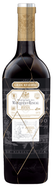 The Gran Reserva by Marqués de Riscal comes in a deep black-cherry-red colour in the glass. This Spanish red wine presents aromas of dark berries and spices and is rounded off by herbal notes and fine oak aromas. This red wine cuvée is a mature Rioja according to traditional style with a firm structure, a lively acidity and a long-lasting reverberation. Food recommendation for the Gran Reserva Rioja DOCa Enjoy this dry red wine with Spanish ham,matured cheese or casseroles. Awards of the Marqués de Riscal Gran Reserva Rioja DOCa by Marqués de Riscal Robert M. Parker: 90 points (born 2004)