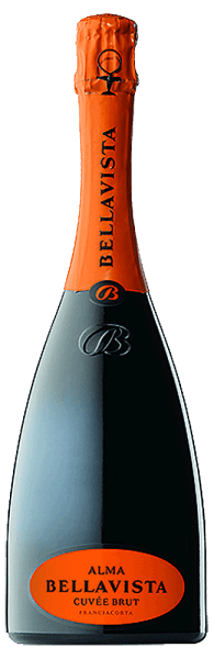 The Alma Gran Cuvée brut Franciacorta DOCG from Bellavista shows a very fine, filigree perlage in the glass and caresses the nose with the inviting aromas of white flowers, pears and vanilla. This cuvée is powerful and harmonious on the palate. The spicy components of the bouquet are also reflected on the palate and in the long aftertaste. Vinification for the Alma Gran Cuvée Brut Franciacorta from Bellavista Fine sparkling wines do not only originate from Champagne, even if they served as a model for the Franciacorta sparkling wines. Franciacorta can only be defined as sparkling wines produced in the Franciacorta region from the Chardonnay, Pinot Noir and Pinot Bianco grape varieties using the classic method of bottle fermentation. This cuvée is made from more than 30 selected base wines, most of which matured for up to 7 months in small oak barrels. Food pairing for the Bellavista Alma Gran Cuvée Brut Franciacorta Enjoy this excellent Italian sparkling wine from Franciacorta as an aperitif, with starters or desserts. Awards for the Alma Gran Cuvée Brut Franciacorta DOCG from Bellavista Wine Spectator: 89 points James Suckling: 91 points Veronelli: 2 stars