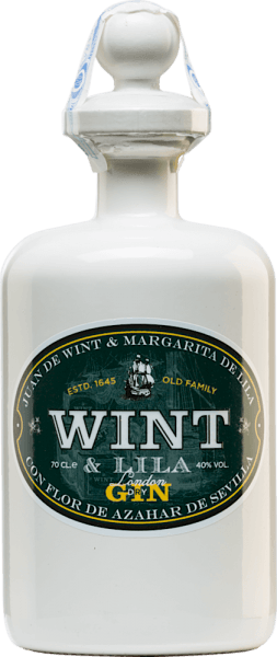The London Dry Gin by Wint & Lila is dedicated to the Spanish Wint & Lila family. This family founded the East India Companies in southern Spain in the 17th century.  Only the best botanicals and spices are used for this gin. Already in the nose a wonderfully floral aroma unfolds, which is accompanied by spicy hints. This gin convinces the palate with its fresh and Mediterranean character.   Wint & Lila London Dry Gin Manufacturing Process Juniper is used as the basis for this Spanish gin. In addition,  there are coriander, real angelica and cinnamon. For the freshness of the palate and the uniqueness of this gin are the local botanicals such as orange peels, orange blossoms, lemons, limes and peppermint from Andalusia.  In centuries-old copper bubbles using the 'au bain marie' method, the botanicals are fused together. The distillate is distilled a total of five times.  Serving suggestion for the London Dry Gin Wint & Lila Enjoy this gin from Spain solo or in your favourite long drink. You can choose the serving temperature at your own discretion.
