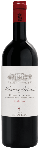 The Marchese Antinori Chianti Classico Riserva DOCG from Tenuta Tignanello shines in an intense dark ruby red in the glass. On the nose, fruity, varietal aromas of Sangiovese, supplemented by vanilla and spicy nuances, inspire. On the palate the Marchese Antinori Riserva presents itself with an elegant texture, balanced, tasty, lively, engaging, with soft, soft and silky tannins. The finish is long and persistent. Vinification of Marchese Antinori Chianti Classico Riserva DOCG from Tenuta Tignanello This Chianti Classico Riserva presents the Sangiovese of this wine-growing region in all its quality and elegance. For this wine at least 90% Sangiovese and at most 10% Cabernet Sauvignon and other local red grape varieties are vinified. Upon arrival in the cellar, the grapes are destemmed and then gently pressed. The must is then poured into stainless steel tanks where the alcoholic fermentation takes place. During the maceration on the skins, the Remuage and Délestage techniques are applied very gently to ensure intensive extraction while maintaining the elegance and smoothness of the tannins. After the malolactic fermentation, which is spontaneous until the end of the year, the cuvée is then made and the wine is matured in French and Hungarian oak barrels for one year, followed by another 12 months in the bottle. The Marchese Antinori Riserva is one of the historic Antinori wines. It is produced only in the best years, from the best grapes of the Badia a Passignano, Pèppoli and Tignanello wineries. Since the 2011 vintage, the grapes come exclusively from the Tenuta Tignanello, in whose cellar it is also matured. Food pairings for the Marchese Antinori Chianti Classico Riserva by Tenuta Tignanello Enjoy this elegant Riserva Chianti Classico from the house of Antinori to traditional upscale Tuscan cuisine, mushrooms, Tuscan truffle, dishes with red meat, roast or grilled, game, ripe cheeses. We recommend to open the wine about 3 hours before the serving. Awards for the Marchese Antinori Chianti CLassico Riserva DOCG from Tenuta Tignanello Gambero Rosso: 2 glasses for 2014, 2 red glasses for 2013 Wine Spectator: 91 points for 2014, 93 points for 2013 Vinous Antonio Galloni: 90 points for 2014 Robert M. Parker: 93 points for 2013