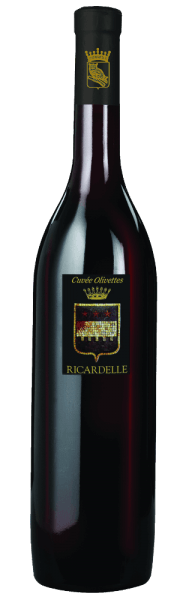 The Cuvée Olivettes by Château Ricardelle has a fine, fruity spicy scent of sweet berries and liquorice. It has a slender and seductive taste with a clear fruit and delicate tannins.