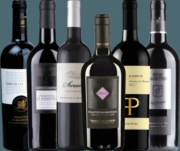 6er Probierpaket - Primitivo di Manduria Rotweine
