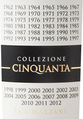 The Collezione Cinquanta Vino Rosso d 'Italia by Cantine San Marzano in Puglia pays homage to the vision and passion of the winemakers who founded the award-winning wine cooperative over 50 years ago to promote the region's excellent indigenous grape varieties and produce expressive and sustainable wines from them. The Collezione Cinquanta by Cantine San Marzano shines ruby red in the glass with purple reflections. The bouquet is intense and complex, with fruity notes of plum and jam, as well as spicy aromas of vanilla and liquorice. On the palate, this powerful red wine presents itself flavour-intensive, of great structure and incredibly soft. Long and persistent finish. Vinification of San Marzano Collezione Cinquanta Vino Rosso d 'Italia Typical, indigenous grape varieties from the wine-growing region of Salento in Puglia are vinified together for this impressive red wine from southern Italy. The vines are without exception at least 50 years old, grow on skeletal, not very deep, medium-heavy clay marl soils, in summer with sometimes quite warm climatic periods with high moisture loss, at about 100m a.s.l. The grapes are harvested manually in September, if they have already reached a slight overripening. After destemming and cold maceration before fermentation, the alcoholic fermentation and the gentle pressing and discharge of the wine follow. Malolactic fermentation and subsequent ageing over a period of about 12 months take place in barriques made of high-quality French oak. This red wine is characterized by the fact that it can retain its organoleptic properties, bouquet and taste unchanged for 7 years. Food recommendation for the Collezione Cinquanta San Marzano Vino Rosso d 'Italia Enjoy this exquisite Italian red wine from the Cantine San Marzano in Puglia with dishes with red meat, game dishes, pasta with flavour-intensive sauces. Or as a meditation wine, to end a beautiful evening, alone or in a round with good friends. Awards for the Collezione Cinquanta