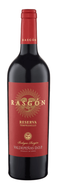 The Rasgón Reserva Tempranillo by Bodegas Rasgón reveals itself in the glass in a deep dark red and flatters the nose with the pronounced aromas of plums and cherries. The bouquet of this Spanish red wine is complemented by spicy hints of spices and wood. This reserve is strong and harmoniously dry on the palate with intense fruity notes. Food recommendation for the Rasgón Reserva Tempranillo Enjoy this dry red wine with braised or grilled meat or mature cheese.