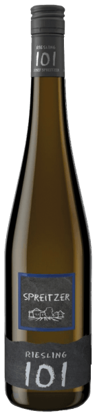 Riesling 101 quality wine from Spreitzer shows a cool nose with finely tart herbality and some citrus fruit. In the mouth it is crystal clear and cool. Immediately appears a fine, penetrating sweetness with finely tart herbality and finely salty minerality. The body of this Riesling is compact and has a firm, athletic structure. An invigorating fresh wine with a train that really grabs the palate. Rich in extracts and with a long, complex finish, which gives rise to an enchanting mineral fruit.