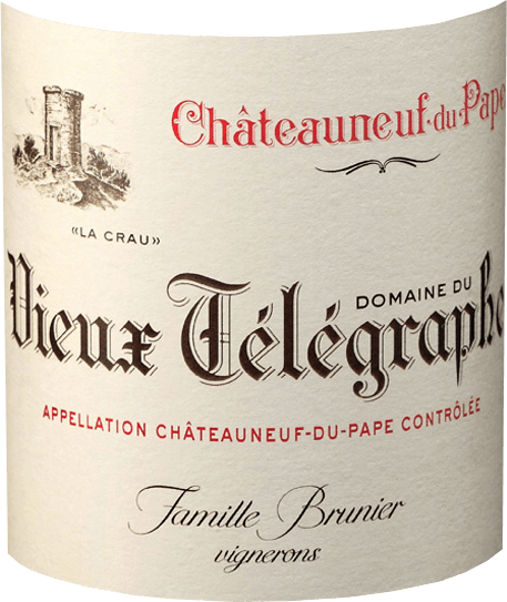 This Red is considered the flagship of the legendary Domaine du Vieux Telegraphe. The 50-year-old vines on average, help the Vieux Telegraphe Rouge by Vignobles Brunier to a rich structure, power and potential. It is smoky, peppery and spicy with a rich cherry and berry fruit. A muscular and dense Châteauneuf-du-Pape, the perfect match for pan-fried wild boar with many herbs and strong juniper sauce, Rehpfeffer, snipe or pigeon with black truffle sauce. Data from Vieux Telegraphe Rouge - Vignobles Brunier: Winery: Vignobles Brunier Country: France Region: Rhône Valley Grape: Grenache 65 %, 15 % Syrah, Mourvèdre 15 % 5 ** Cinsault *** Content: 0,75 l Alcohol: 15,00 % vol Total Acidity: 5.10 g / l Residual sugar: 1.10 g / l Shelf life: min. 2030 maturity: in concrete vats (9 months), in wooden barrels (8-12 months) Optimum serving temperature: 18 ° C awards from Vieux Telegraphe Rouge - Vignobles Brunier: Wine Advocate: 92 points (b. 06) International Wine Cellar: 92 to 94 points (b. 06) Decanter: 5 stars (b. 07) Wine Spectator: 94 points (b. 09), 96 points (b. 10)