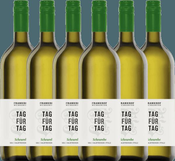6er Vorteils-Weinpaket - Tag für Tag Scheurebe halbtrocken 1,0 l 2020 - Frankhof Weinkontor