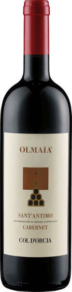 The Sant 'Antimo Olmaia by Col d 'Orcia presents itself in the glass in an intense ruby red and unfolds its grape variety typical bouquet with the aromas of forest fruits, plums and cassis. These notes are rounded off by the spicy aromas of spices and oak. This red wine from Tuscany is meaty on the palate with a great structure. The tannins are soft and harmonize perfectly with the classic oak notes. The reverberation is long-lasting and spicy. Vinification for the Sant 'Antimo Olmaia of Col d 'Orcia The vines for this pure Cabernet Sauvignon grow in vineyards in Olmaia, Montalcino. After the hand harvest, the grapes were selected again before fermentation. Fermentation and maceration took place over a period of 20 days in stainless steel tanks, followed by malolactic fermentation. Sant 'Antimo Olmaia matured for 18 months in French and American oak barrels and another 8 months in bottle. Food recommendation for the Sant 'Antimo Olmaia of Col d 'Orcia Enjoy this dry red wine with grilled, red meat, beef fillet, game or matured cheese. Awards for the Sant 'Antimo Olmaia of Col d 'Orcia Gambero Rosso: 2 glasses (vintage 2012) Decanter: Silver (vintage 2012) Wine Spectator: 92 points (vintage 2012)