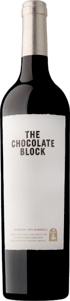 The Chocolate Block from Boekenhoutskloof from the South African wine-growing region of Swartland is an exciting cuvée of Syrah, Cabernet Sauvignon, Grenache, Cinsault and Viognier. This wine appears almost ink-black in the glass. After a short time in the air, this red wine spreads a seductive aroma of dark berries, tobacco boxes, floral notes - especially lilac and violet - and delicate notes of sweet mocha and fine chocolate. On the palate, the Chocolate Block is very strong with a good structure and excellent tannin, as well as an acidity that offers this cuvée some reserve. In the never-ending finish, its clear mineral component and fine spicy aromas as well as the fully ripe fruit and the name-giving cocoa show up. This South African red wine cuvée speaks for itself: one of Boekenhoutskloof's most coveted wines! Vinification of the Boekenhoutskloof Chocolate Block For this red wine the individual grape varieties are cultivated on different vineyards from Franschhoek to Wellington to Swartland and only the best terroirs are used for the respective grape varieties. The Syrah comes from Malmesbury north of Cape Town. The oldest Grenache vines from South Africa stand at the foot of the Cederberg Mountains in Citrusdal and the Cinsault grows on bush vines on granite near Wellington. The Viognier and also the Cabernet Sauvignon are cultivated directly at the winery. The Grenache is matured in 600 litre barrels, all other grape varieties in French oak barrels and 2 500 litres of French oak boudrés. The wood is matured for 12 months. Finally, this wine undergoes a light protein polishing and filtration. Food recommendation for the Chocolate Block Boekenhoutskloof This dry red wine from South Africa goes excellently with grilled dishes, beef and spicy fried meat pieces. Awards for the Boekenhoutskloof Chocolate Block Tim Atkin: 92 points for 2017 John Platter: 5 Stars for 2017