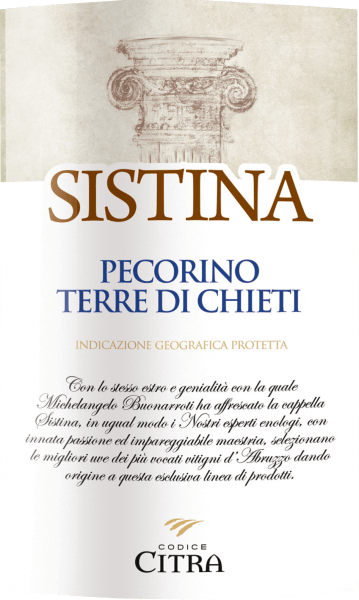 The Sistina Pecorino Terre di Chieti from the Abruzzo wine-growing region reveals itself in the glass in bright light yellow. Ideally poured into a white wine glass, this wine from Italy reveals wonderfully expressive aromas of violet, lilac, star fruit and jasmine, rounded off by green peppers, lovage and garrigue. This dry white wine from Citra Vini is ideal for wine lovers who like it absolutely dry. The Sistina Pecorino Terre di Chieti already comes quite close to this, as it was vinified with just 4.5 grams of residual sugar. On the tongue, this balanced white wine is characterized by an incredibly light texture. With its lively fruit acidity, the Sistina Pecorino Terre di Chieti is wonderfully fresh and lively on the palate. In the finish, this storable white wine from the Abruzzo wine growing region finally inspires with considerable length. Once again there are hints of starfruit and lily. Vinification of the Sistina Pecorino Terre di Chieti from Citra Vini The balanced Sistina Pecorino Terre di Chieti from Abruzzo is based on grapes from the Pecorino grape variety. The berries for this white wine from Italy are harvested exclusively by hand when they are perfectly ripe. After the grape harvest the grapes reach the press house as quickly as possible. Here they are selected and carefully broken up. Fermentation then takes place in stainless steel tanks at controlled temperatures. At the end of the fermentation process, the Sistina Pecorino Terre di Chieti is allowed to harmonise on the fine yeast for a few months. Recommended food for the Sistina Pecorino Terre di Chieti from Citra Vini Drink this white wine from Italy best moderately chilled at 11 - 13°C as an accompaniment to cod with cucumber-mustard vegetables, spaghetti with yoghurt-mint pesto or asparagus salad with quinoa. Awards for the Sistina Pecorino Terre di Chieti from Citra Vini In addition to a very good price-performance ratio, this white wine from Citra Vini can also boast of awards, includin
