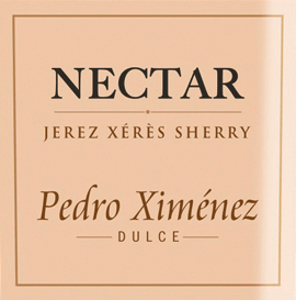 The Nectar Pedro Ximenez from Gonzalez Byass is a dense, sweet and grape-varietal sherry from the Spanish DO Jerez wine region. In the glass, this wine shimmers in a deep, beautiful golden brown. In the nose an expressive aroma of dried fruits unfolds - especially dates, figs and raisins - and merges with fine notes of oak wood. On the palate, this sherry is wonderfully gentle with a fine fruity, excellent sweetness. The body has a great density that extends to the long-lasting finale with sweet, restrained liquorice wort. Vinification of Byass Nectar Pedro Ximenez The Pedro Ximenez grapes are carefully harvested and brought to the winery of Gonzalez Byass. This grape variety already has a natural sweetness - in order to concentrate it even further, the berries are dried in the sun for about 10 days. The dried grapes are then gently pressed and fermented in stainless steel tanks. Finally, this wine matures for 10 years in wooden barrels of the traditional Solera and Criadera system. Food recommendation for Pedro Ximenez Gonzalez Byass Nectar This sweet sherry goes great with creamy cream ice cream, pudding with fresh fruit, muffins with liquid chocolate core or even with small snacks - nuts and spicy cheese cubes. Awards for Nectar Pedro Ximenez Gonzalez Byass Wine Spectator: 92 points (awarded December 2017)