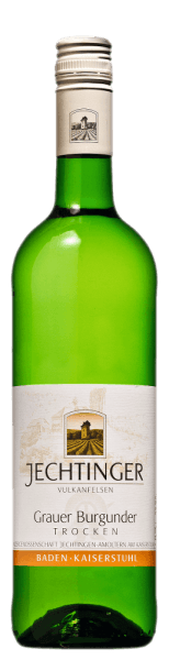 The Grauburgunder quality wine from Winzergenossenschaft Jechtingenshines in a yellow color with a greenish shimmer. A cool scent of ripe nuts (apples and quinces), some buttercup, lime blossom and slightly smoky nuances plays around the nose. The strong taste holds an animating nutfruit with a hint of fruit sweetness and a fruity tartaric acid. This Grauburgunder from the wine cooperative Jechtingen is lively fresh, complex and complex on the palate. It has a medium body with a firm structure and spine as well as a nice balance. A long finish with mineral nuts in the aftertaste rounds it off. Drink this white wine from bathing with salad, poultry and light roast.