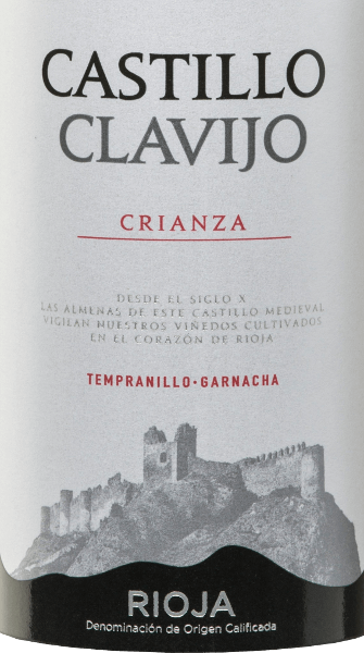 The Castillo de Clavijo Crianza Rioja DOCa by Criadores de Rioja is a wonderful cuvée made from Tempranillo (90%) and Garnacha Tinta (10%) grape varieties. This Spanish red wine sparkles in the glass in a dense cherry red with violet reflections. In the bouquet there are aromas of forest fruits - especially wild blackberry and blueberry - and vanilla shades from the woodwork. Soft and round, this red wine has a full taste of ripe fruits, vanilla and spice notes and a fine acidity structure. This balanced tempranillo ends in a body-rich, elegant finish. Vinification of the Castillo de Clavijo Crianza After hand-picking the grapes from the Criadores de Rioja winery, they are destemmed, ground and fermented in stainless steel tanks under temperature control. This vegan wine then matures for 12 months in American and French oak barrels. Food recommendation forthe Criadores de RiojaCastillo de ClavijoCrianza This red wine from Spain is recommended with tapas, cold cuts, codfish, salmon, chili con carne, all types of red meat and medium-ripe hard cheeses.