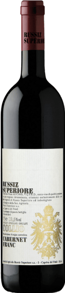 This pure Cabernet Franc shows a breathtakingly deep ruby red colour in the glass. It matured for 12 months in oak barrels and  impresses with its abundance of aromas, such as green pepper, blackcurrants, blackberries and black cherries. The Cabernet Franc from Russiz Superiore has a fresh, full-bodied and elegant taste as well as wonderfully velvety undertones. Food pairing/Food recommendation for  the Cabernet FRANC DOC Collio from Russiz Superiore Serve this elegant Italian red wine with meat dishes such as steak or beef. Awards for  the Cabernet FRANC DOC Collio by Russiz Superiore Wine & Spirits: 90 pts. (Vol. 08)