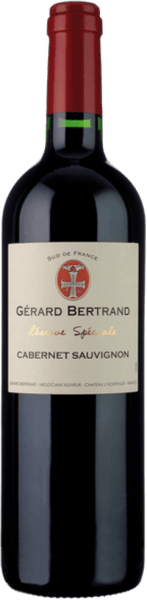 The Réserve Spéciale Cabernet Sauvignon by Gérard Bertrand presents itself in the glass in a dark cherry to purple with a reddish purple glow. The aromatic bouquet unfolds with the nuances of delicately sweet, ripe black and red currants, blueberries and plums. These fruit notes are accompanied by spicy hints, such as laurel, pepper, mocha and vanilla. Fine roasted notes and woody hints complement. This southern French red wine is powerful on the palate and fleshy with concentrated fruit. This is in excellent balance with the matured tannins and the lively acidity. Spicy and full-bodied, this wine leads into an aromatic reverberation with dark chocolate, toast and vanilla. Vinification for the Gérard Bertrand Réserve Spéciale Cabernet Sauvignon For this Cabernet Sauvignon only the best, optimally matured grapes are hand-picked and destemmed. They are then fermented over a period of 20-25 days at a controlled temperature of 28-30 °. The repeated pumping of the wines achieves the natural concentration of aromas and tannins. After completion of the alcoholic fermentation, this wine is removed from the mash and aged for about 10 months in wooden barrels. After bottling, the Réserve Spéciale Cabernet Sauvignon is refined for a further 3 months in the bottle. Food recommendation for the Gérard Bertrand Réserve Spéciale Cabernet Sauvignon Enjoy this dry red wine with grilled or roasted meat and poultry, beef stew, spicy pasta or spicy mountain cheese.