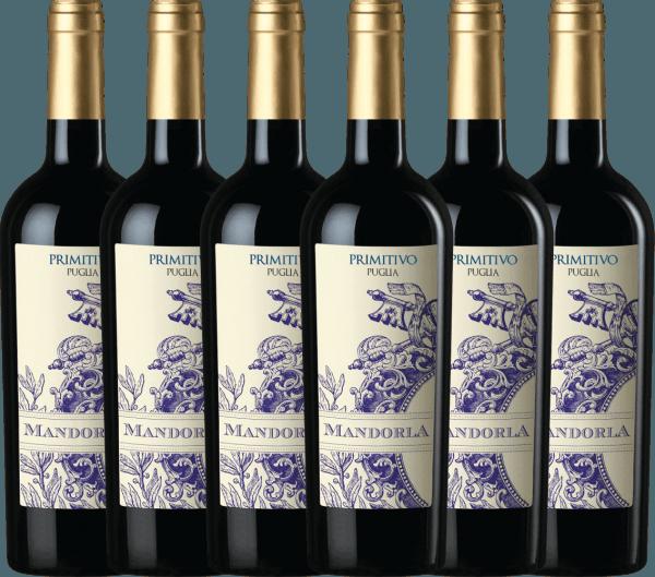 6er Vorteils-Weinpaket - Primitivo Puglia IGT 2019 - Mandorla