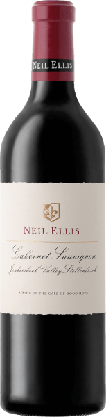 The multi-facetted and elegant Cabernet Sauvignon Jonkershoek Valley from Neil Ellis is a pure grape variety red wine from the South African wine-growing region of Stellenbosch. In the glass this wine shines in a rich cherry red with purple highlights. The multi-layered bouquet is carried by strong aromas of black currant, floral hints of violet, cedar wood and a hint of mint. Thanks to the ageing in oak barrels, the aromas of the nose are complemented on the palate by a fine oak spice. This South African red wine cannot hide its complexity behind its youthful charm. The fine tannins are very well woven into the dense body. With a pleasant, long finish closes this red wine. Vinification of the Neil Ellis Cabernet Sauvignon Jonkershoek Valley After the careful harvest of the Cabernet Sauvignon grapes in the Jonkershoek Valley, the grapes are brought to the Neil Ellis cellar. There the mash is fermented in stainless steel tanks. Once the fermentation process is complete, this red wine is aged for 20 months in French oak barriques, 75% of which are new wood. Recommended food for the Jonkershoek Valley Neil Ellis Cabernet Sauvignon This dry red wine from South Africa is the perfect accompaniment to strong game dishes with cranberries and boiled potatoes, hearty roast beef with hearty side dishes or mature cheeses. Awards for Cabernet Sauvignon Jonkershoek Valley Neil Ellis Steven Tanzer: 91 points for 2012 John Platter: 5 Stars for 2010 Wine Spectator: 93 points for 2010