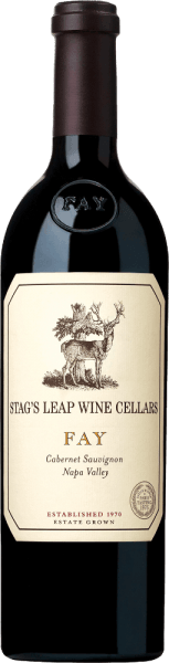THE FAY Cabernet Sauvignon from Stag's Leap Wine Cellars has its home in the Napa Valley wine region of California. This excellent red wine is vinified exclusively from the Cabernet Sauvignon grape. The colour of this red wine is deep ruby to plum red with purple highlights. The expressive bouquet is characterized by strong aromas of ripe raspberries, sweetly ripened boysenberries and juicy black cherries, which combine with notes of cinnamon and freshly roasted coffee to create a harmonious, balanced fragrance. On the palate, this American red wine convinces with a rich dark fruit fullness and perfectly integrated, silky tannin. The body is wonderfully powerful and juicy and is supported by a perfect, warm structure. The finale comes with a wonderful, elegant length and nuances of cooked berries and baking spices. Vinification of Stag's Leap FAY CABERNET The grapes for this fantastic red wine grow on one of the largest vineyards - FAY Vineyard - in the Napa Valley. The berries are carefully picked by hand in September and already selected in the vineyard. Once the harvested material has arrived in the Stag's Leap wine cellar, the mash is traditionally fermented in a stainless steel tank. The malolactic fermentation is completely run through. At maturity, this wine is placed in French oak barrels (89% new wood) and rounded off for 22 months. Food recommendation for the Cabernet SauvignonStag's Leap Wine Cellars FAY Enjoy this dry red wine from the USA with fried duck breast with cherry chutney, lamb roast in a herb coat or with spicy matured cheeses. We recommend decanting this wine for at least 2 hours before enjoying it. FAY Stag's Leap Cabernet Sauvignon Awards Wine Spectator: 94 points for 2015 Robert M. Parker - The Wine Advocate: 93-95 points for 2015 Wine Spectator: 92 points for 2014 Robert M. Parker - The Wine Advocate: 92-95 points for 2014
