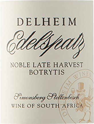 The light-footed Noble Late Harvest from Delheim shimmers into the glass with brilliant light yellow. If you give him some air in the wine glass by swivelling, this white wine is characterized by an incredible lightness, which makes him dance energetically in the glass. Ideally poured into a dessert wine glass, this white wine from South Africa presents wonderfully expressive aromas of blackcurrant, shade morale, black cherry and blueberry, rounded off by other fruity nuances. The Delheim Edelspatz Noble Late Harvest reveals an incredibly fruity taste on the palate, which is not least due to its residual sweet taste profile. On the tongue, this light-footed white wine is characterized by an incredibly dense texture. The noble sparkling wine Noble Late Harvest is wonderfully fresh and lively on the palate thanks to its succinct fruit acid. In the finish, this storable white wine from the Coastal Region wine-growing region ultimately inspires with considerable length. Again, there are echoes of shadow morale and mulberry. Vinification of the Noble Late Harvest by Delheim This elegant white wine from South Africa is vinified from Riesling grape variety. After the grape harvest, the grapes reach the press house in the fastest way. Here you will be sorted and carefully broken up. Fermentation is then carried out in a stainless steel tank at controlled temperatures. The fermentation is followed by ageing for a few months on the fine yeast before the wine is finally bottled. Food recommendation for the Edelsparz Noble Late Harvest from Delheim This South African white wine should best be enjoyed moderately chilled at 11-13°C. It is perfect as an accompanying wine with pear-lime strudel, yoghurt mousse with poppy seeds or roast apples with yoghurt sauce. Awards for the Noble Late Harvest by Delheim In addition to an absolute top wine status, this Delheim wine can also boast awards and top ratings beyond the 90 points. In detail, these are John Platter Wine Guide - 4.5 Stars
