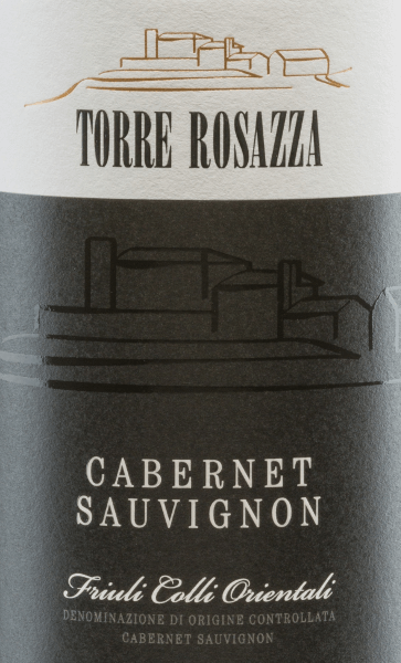 The Cabernet Sauvignon from Torre Rosazza is a wonderful, grape varietal red wine from  the Friuli-Venezia Giulia region.  In the glass, this wine shimmers in a strong ruby red with cherry-red highlights. The rich bouquet flatters the nose with intense aromas of black berries - blackberry and blackcurrant in particular stand out. This is accompanied by notes of laurel, freshly ground pepper and liquorice. The palate is pampered by a full-bodied body and a gripping structure. The soft tannins are wonderfully integrated and lead to a medium-length reverberation.  Vinification  of Torre Rosazza Cabernet Sauvignon The Cabernet Sauvignon grapes are carefully picked by hand at Torre Rosazza. The grapes are pressed in the wine cellar and the resulting mash is fermented in a stainless steel tank at a controlled temperature. After completion of the fermentation process, this Italian wine is aged in wooden barrels (300 l) for 6 months.  Food recommendation for  the Cabernet Sauvignon Torre Rosazza This dry red wine from Italy is a great accompaniment to Italian pasta dishes with meat sauces. But this wine must not be missed even during cozy barbecues.