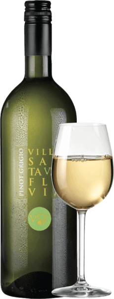 Pinot Grigio at Villa Santa Flavia Winery offers fresh, mild wine enjoyment. The nose and palate enjoy fruity-fresh aromas of crisp apples with a subtle herbal note. Buy the Italian white wine in the practical 18er benefits package. Find out more about this dry white wine from Italy in the individual article ofthe Pinot Grigio by Villa Santa Flavia.