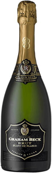 The Cap Classique Blanc de Blancs Brut from Graham Beck is a wonderful sparkling wine from South Africa, which is vinified from Chardonnay grapes (100%). The bouquet exudes wonderfully fresh aromas of citrus fruit - lemon in particular comes to the fore. On the palate there is a fine moussing with strong notes of ripe mandarin, accompanied by complex aromas of brioche and some yeast. The finish is wonderfully creamy, elegant and long lasting. Vinification of Blanc de Blancs Cap Classique Only the must of the first pressing is used for this South African sparkling wine. After pressing the grapes, 50% are fermented in Pieces Champenoises (traditional 225 litre barrels). The strong aromas of the Blanc de Blancs are wonderfully accentuated. After the fermentation, the Chardonnay batches come together again and spend a second fermentation on the bottle - for at least 36 months on the yeast. Food recommendation for the Graham Beck Blanc de Blancs Enjoy this sparkling wine from South Africa with seafood, shellfish and fish - especially lobster, lobster, carpaccio of fish or sole. But also with desserts like soufflé, crêpe, cake and tarts this sparkling wine is a real pleasure. Awards for the Blanc de Blanc Cap Classique Graham Beck Robert M. Parker: 91 points for 2010