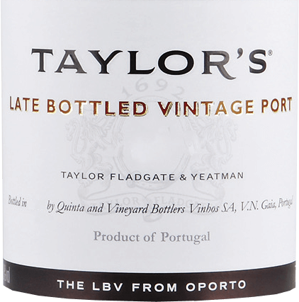 The Late Bottled Vintage from Taylor's Port from the Portuguese wine-growing region DOC Douro, is an aromatic, opulent port wine from the grape varieties Tinta Roriz, Tinta Barocca, Touriga Nacional, Touriga Francesa and Tinta Cao. The deep red colour of this port is reminiscent of a sparkling ruby with black-violet highlights. The nose reveals a complex, dense aroma of ripe black fruits (blackberry, black currant and elderberry) together with subtle nuances of herbs and ink as well as a fine mineral touch. Very concentrated and luxuriant - but at the same time velvety soft - with a good body this port presents itself on the palate. The dark berry fruit of the nose is reflected and accompanied in the long finish, which is accompanied by a sweet-spicy hint. Vinification of Taylor's Port LBV The grapes for this port are carefully harvested by hand and immediately taken to the Taylor's Port cellar. There the grapes are first stomped in Lagares and the mash is rolled sufficiently. The must is then fermented at a maximum temperature of 30 degrees Celsius. As soon as half of the sugar is fermented, the fermentation process is stopped by adding high-proof distillate. This preserves the natural residual sweetness of this wine. Finally, this port is left to mature for 4 years in wooden barrels (volume 600 litres). Food recommendation for the Late Bottled Vintage Taylor's Port This sweet port wine goes perfectly with spicy blue cheese - such as Blue Stilton or Roquefort - and with chocolaty desserts with homemade fruit compote. Awards for Taylor's Late Bottled Vintage Wine Spectator: 91 points for 2013